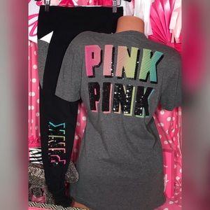 Pink victoria's Secret Bling Retro Set